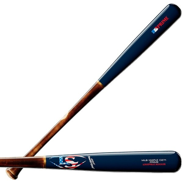 Louisville Slugger 2019 MLB Prime Maple C271 Patriot Baseball Bat, 33/30 oz