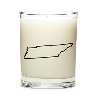 State Outline Candle, Premium Soy Wax, Tennesse, Fresh Linen
