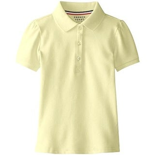 French Toast Girls 7-20 Short-Sleeve Pique Polo