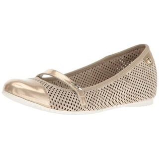 Anne Klein Womens Zariel Leather Closed Toe Mary Jane Flats