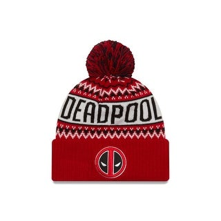 Marvel Comics Deadpool Wintry Pom Knit Hat