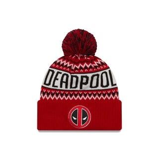Marvel Comics Deadpool Wintry Pom Knit Hat