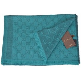 Gucci Women's 359908 Wool Silk Jade Overdyed GG Guccissima Scarf Shawl