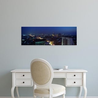 Easy Art Prints Panoramic Images's 'High angle view of a city, Bangkok, Thailand' Premium Canvas Art