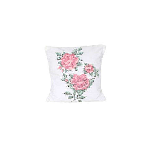 Arzezum Pillow Cover for Home Decor, Set of 2, 3 Roses