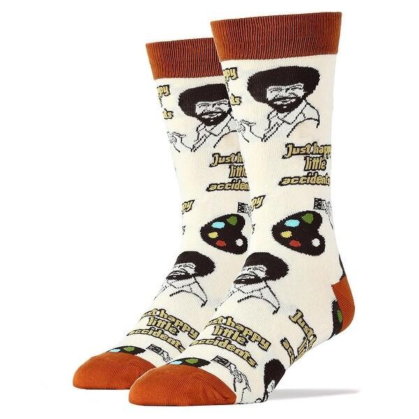 Happy Lil Accidents Men's Crew Socks - Brown