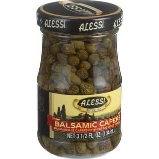 Alessi Capers in White Balsamic Vinegar - (Case of 6 - 3.5 oz)