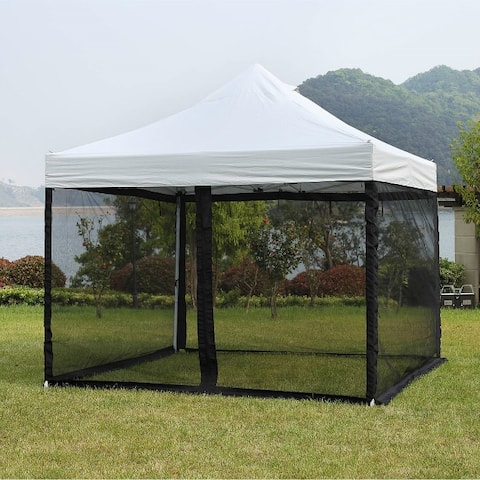 Mosquito Net for Outdoor Patio and Garden, Outdoor Gazebo Screenroom, Zippered Mesh Sidewalls for 10x 10' Gazebo and Tent