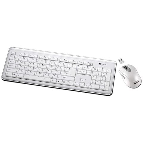 I-Rocks RF-6577L-WH I-Rocks RF-6577L Keyboard and Mouse - USB Wireless RF Keyboard - USB Wireless RF Mouse - Laser - 1600 dpi