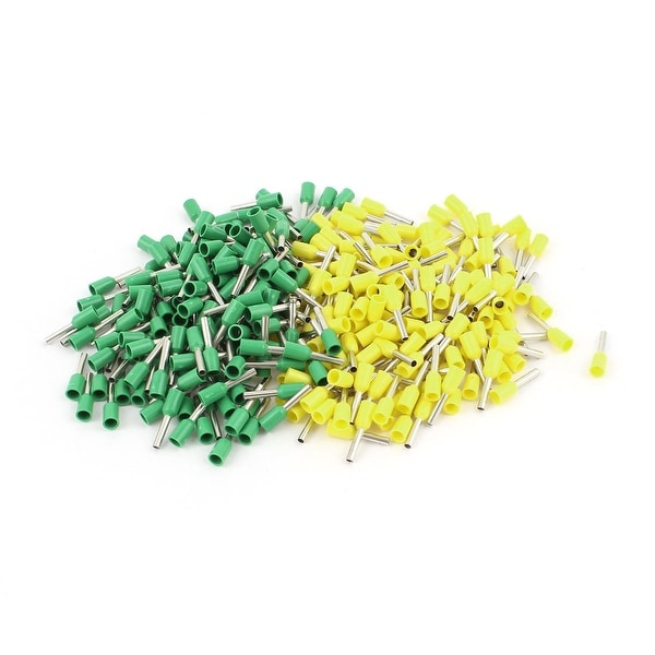 320pcs Green Yellow Insulated Tube Pin End Terminals for AWG18 Wire Cable