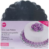 "Cake Platters-14"" Round Silver 6/Pkg"