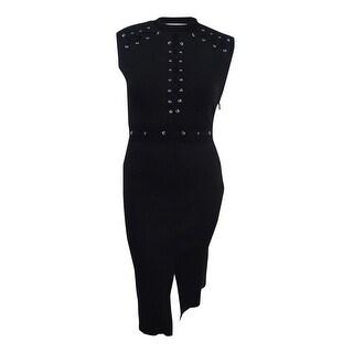 Rachel Roy Women's Lace-Up Midi Dress - Black