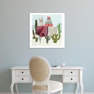 Easy Art Prints Victoria Borges's 'Holiday Llama IV' Premium Canvas Art