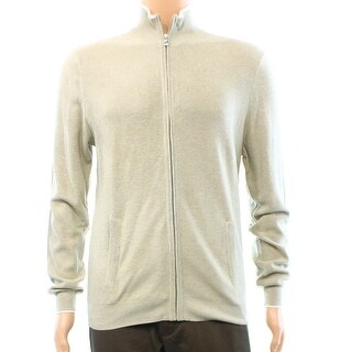 Club Room NEW Beige Mens Size Small S Full Zip Silk Blend Sweater