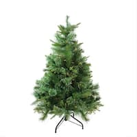 "4.5' x 37"" Pre-Lit Cashmere Mixed Pine Full Artificial Christmas Tree - Clear Dura Lights - green"