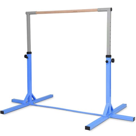 Adjustable Gymnastics Bar Horizontal Bar for Kids-Blue