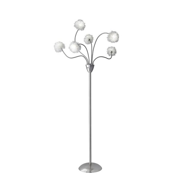 Adesso 4511 pom pom 6 light 60 tall flexible neck floor lamp with adesso 4511 pom pom 6 light 60 tall flexible neck floor lamp with aluminum pompom aloadofball Image collections