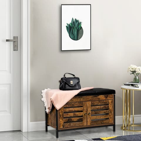 Storage Bench, Shoe Entryway Bench, Bed End Stool Storage Chest