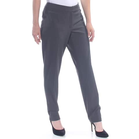 ANNE KLEIN Womens Gray Straight leg Wear To Work Pants Size: 4