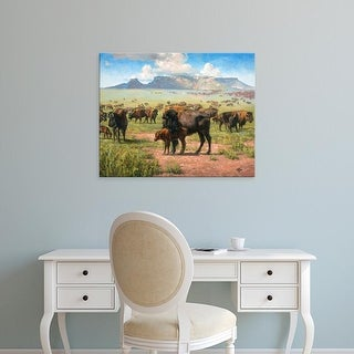 Easy Art Prints Jack Sorenson's 'Spirit of the Plains' Premium Canvas Art