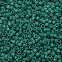 Miyuki Duracoat Delica, Japanese 11/0 Seed Beads, 7.2g Tube, Opaque Eucalyptus DB2131