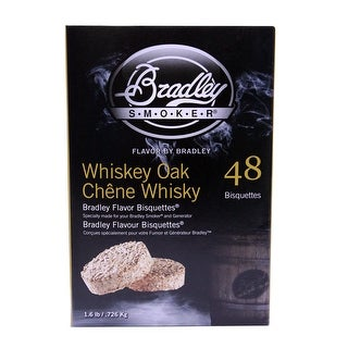 Bradley Smoker Btwose48 Whiskey Oak Flavoured Special Edition Bisquettes 48 Pack