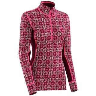 Kari Traa Women's Rose Half Zip Long Sleeve Baselayer