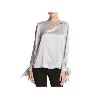 Parker Womens Dennis Blouse Cut-Out Tie Sleeves - s