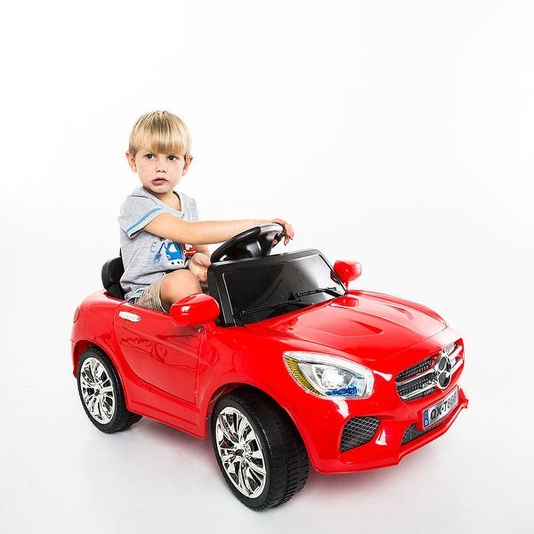 1200920a704d Costway 6V Kids Ride On Car RC Remote Control Battery Powered w/ LED Lights  MP3 Red