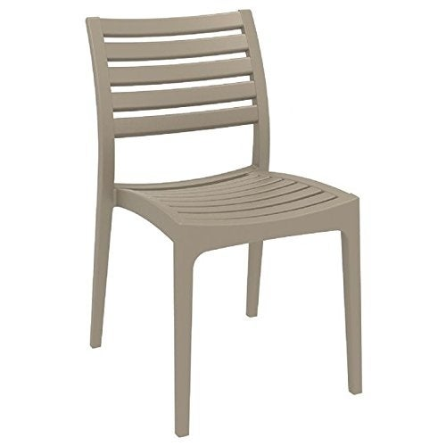 Ares Resin Outdoor Dining Chair (2 Chairs) - Dove Gray - Grey