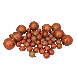 "Link to 125ct Burnt Orange Shatterproof 4-Finish Christmas Ornaments 5.5"" (140mm) Similar Items in Christmas Decorations"