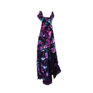 Inc International Concepts Blackberry Floral Print Pashmina Wrap OS