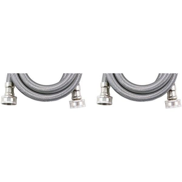 Certified Appliance Wm48Ss2Pk Braided Stainless Steel Washing Machine Hose, 2 Pk (4Ft)