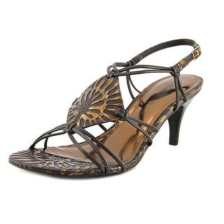 Carlos by Carlos Santana Samba Women Open-Toe Leather Slingback Sandal