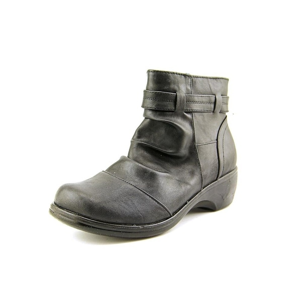 Easy Street Bootz Women Round Toe Synthetic Black Ankle Boot