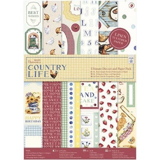 Papermania Ultimate A4 Die-Cuts & Paper Pack - Country Life - 48