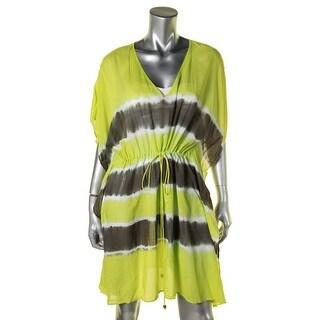 MICHAEL Michael Kors Womens Tie-Dye Kimono Dress Swim Cover-Up - L