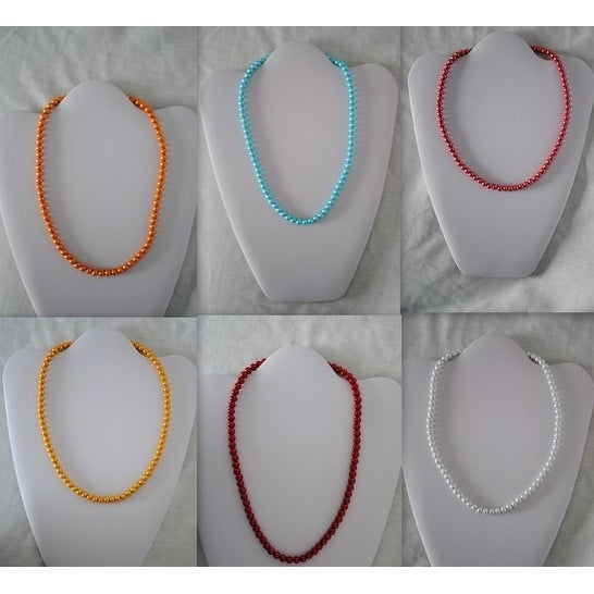 Ddi Magnetic Necklace With Round Color Beads (pack Of 48)