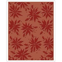 Sizzix Texture Fades A2 Embossing Folder-Poinsettias