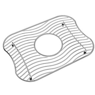 """Elkay LKWBG1209SS Stainless Steel Wire Sink Rack with 2"""" Drain Opening"""
