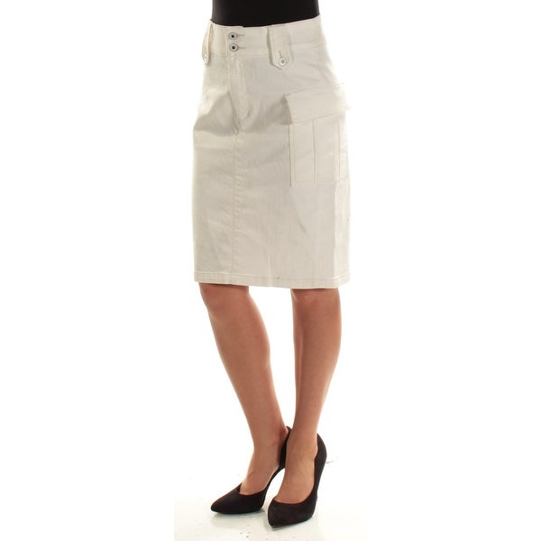 dca41d103 Shop Ralph Lauren Womens Ivory Knee Length Pencil Skirt Size: 2 - Free  Shipping On Orders Over $45 - Overstock - 22642183