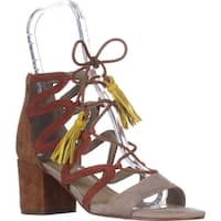 Marc Fisher  Rayz Lace Up Sandals, Taupe Suede