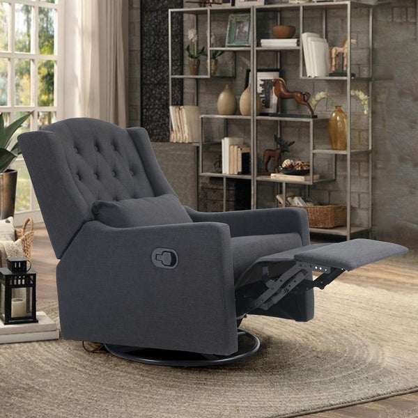 PHI VILLA Recliner Chair, Adjustable Angle Chaise Chair with Manual Footrest, Overstuffed Fabric Lift Glider Chair. Opens flyout.