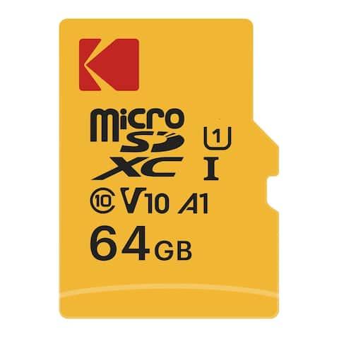 Kodak 64GB Class 10 UHS-I U1 microSDHC Card with Adapter - Yellow