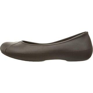 Crocs Womens Olivia II Lined Lightweight Ballet Flats