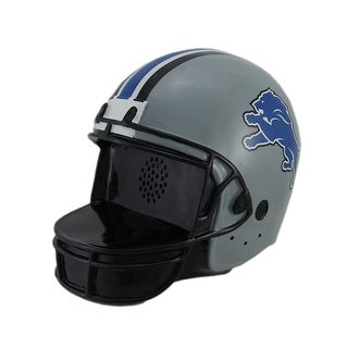 Detroit Lions Football Helmet Landscape Memories Bluetooth Speaker - grey