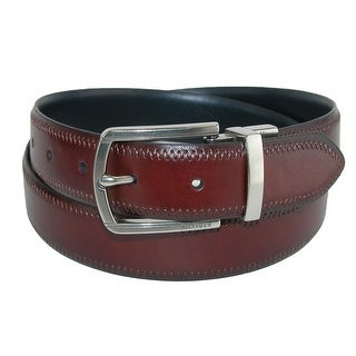 Tommy Hilfiger Men's Feather Edge Reversible Belt with Stitch