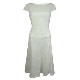 Anne Klein Women's Sleeveless Lace Swing Dress - Camellia