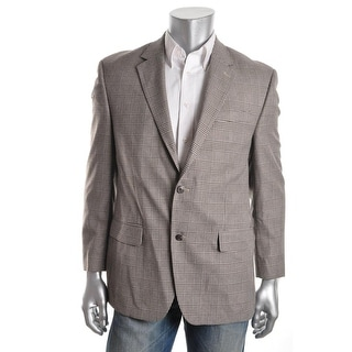Andrew Fezza Mens Plaid Lined Sportcoat - 44L