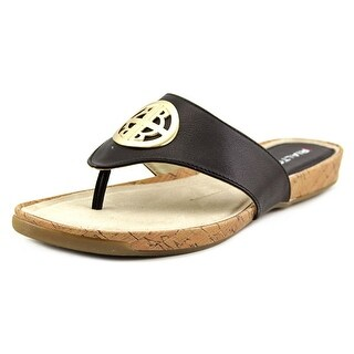 Rialto Calista Women Open Toe Leather Black Sandals